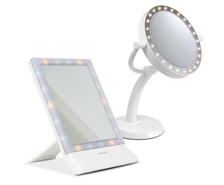 sminkspegel med inbyggd belysning